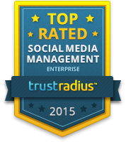 TrustRadius Top Rated Social Media Management Badge for Enterprise 2015