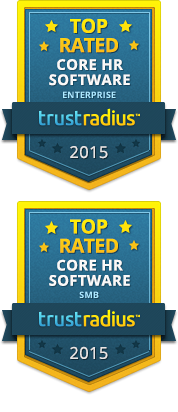 TrustRadius Top Rated Core HR for Enterprise and SMB 2015