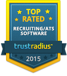 TrustRadius Top Rated Recruiting/ATS Software Badge for 2015