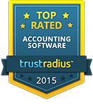 TrustRadius Top Rated Accounting Software Badge for 2015