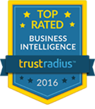 TrustRadius Top Rated Business Intelligence Badge for 2016